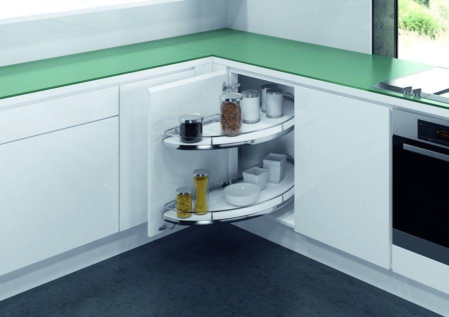 Выдвижные механизмы в кухонный угловой шкаф (28 фото): особенности карусели для кухни, виды выдвижных систем. Как выбрать петли и другую фурнитуру?